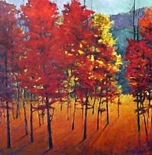 Red Stand by Ken Elliott (Giclee Print)