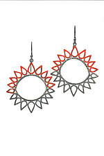 Sun Earrings by Analya Cespedes (Silver Earrings)