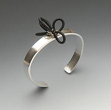 Independence by Lonna Keller (Silver & Rubber Bracelet)