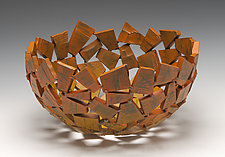 Saffron Wabi Sabi Vessel by Susan Madacsi (Metal Bowl)