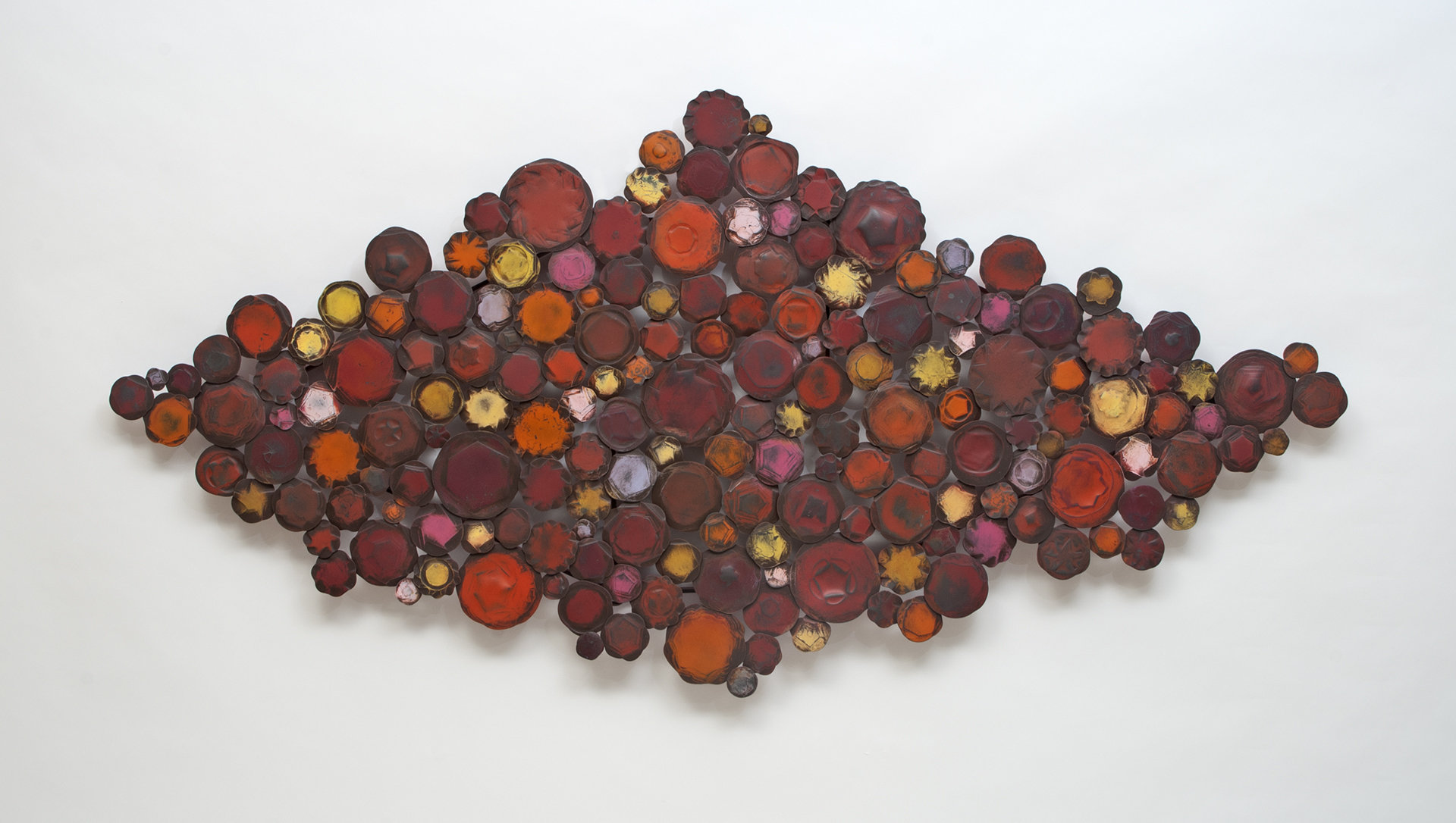 big red by susan madacsi metal wall sculpture