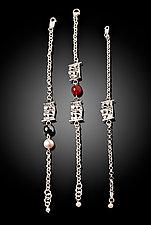 Woven Basket Chain Bracelets by Chi Cheng Lee (Silver & Stone Bracelet)