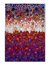 Red Storm by Laurie dill-Kocher (Fiber Wall Art)