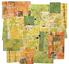 Urban Green Space by Catherine Kleeman (Fiber Wall Art)