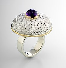 Red Sea Urchin Ring by Hratch Babikian (Silver & Stone Ring)