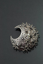Ferocactus Brooch with Diamonds by Sooyoung Kim (Silver Brooch)