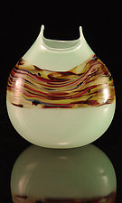 Coffee & Mints Sandscape Manta by Corey Silverman (Art Glass Vase)