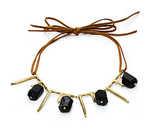 Icicles and Bricks Necklace by Natalie Frigo (Brass & Stone Necklace)