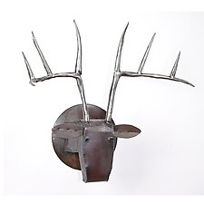 Large Deer Head by Ben Gatski and Kate Gatski (Metal Wall Sculpture)