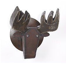 Steel Moose by Ben Gatski and Kate Gatski (Metal Wall Sculpture)