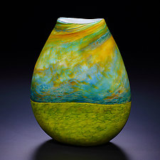 Stormy Sky by John & Heather  Fields (Art Glass Vase)