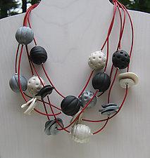 Rio Multiple Strand Necklace by Klara Borbas (Polymer Clay Necklace)
