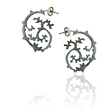 Japanese Garden Earrings by Ana Cavalheiro (Silver Earrings)
