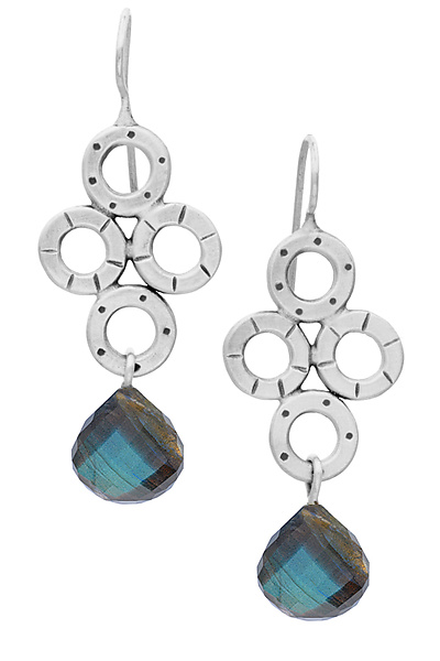 Chandy Earrings with Labradorite