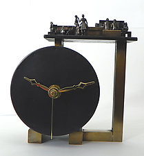 Friends of the Library by Mary Ann Owen and Malcolm  Owen (Metal Clock)