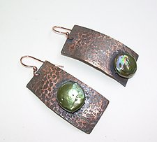 Sincerity Earrings by Diana Lovett (Copper & Pearl Earrings)