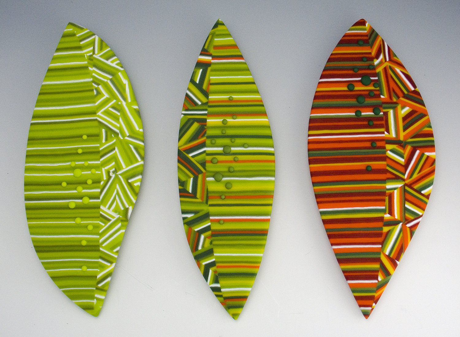 A change of season by sherry selevan art glass wall for Glass wall art