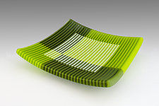 Spring Leaves by Sherry Selevan (Art Glass Platter)