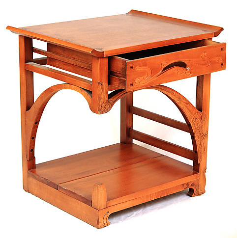 Art Nouveau Night Table. Art Nouveau Night Table by Mathieu Patoine  Wood Side Table