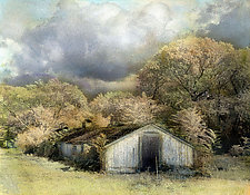 Flanders Duck Farm I by Elizabeth Holmes (Infrared, Hand Painted Photograph)