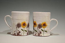Sunflower Mug by Justin Rothshank (Ceramic Mug)