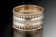 Blush Stacking Rings by Linda Bernasconi (Gold & Silver Ring)