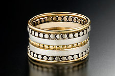 Wit Stacking Rings by Linda Bernasconi (Gold & Silver Ring)