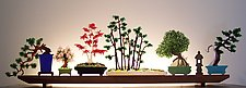 Bonsai by Bernie Huebner and Lucie Boucher (Art Glass Sculpture)