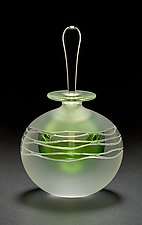 Green Wave by Mary Angus (Art Glass Perfume Bottle)
