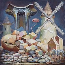 The Coast of Mills by Konstantin Konstantinov (Oil Painting)