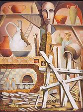Pottery Studio by Konstantin Konstantinov (Oil Painting)