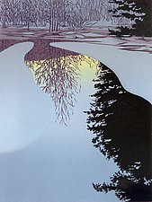 Ice Dawn by William Hays (Linocut Print)