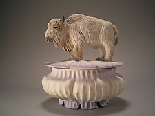White Buffalo Box by Nancy Y. Adams (Ceramic Box)