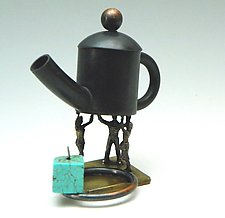 Three to the Power of Tea by Mary Ann Owen and Malcolm  Owen (Metal Teapot)