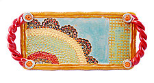 Esperanza Rainbow Tray by Laurie Pollpeter Eskenazi (Ceramic Tray)