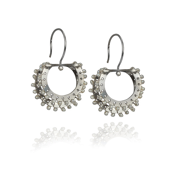 Fold Over Sprocket Earrings