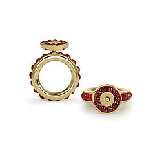 Pomegranate Ring by Gillian Batcher (Gold & Stone Ring)
