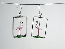 Flamingo Earrings by Kristin Lora (Silver Earrings)