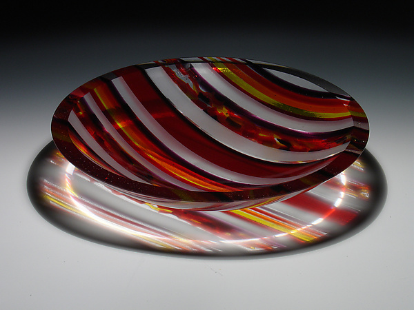 Horizons Edge Red Striped Bowl