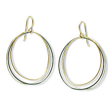 Triple Mayline Hoop Earring by Alice Roche (Gold & Silver Earrings)