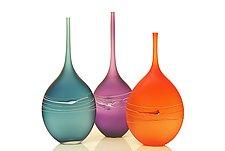 Large Satin Bottles by David Royce (Art Glass Bottle)