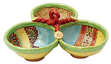 Annabelle's Triple Dish by Laurie Pollpeter Eskenazi (Ceramic Bowls)
