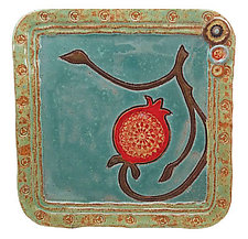 Pomegranate Tray by Laurie Pollpeter Eskenazi (Ceramic Tray)