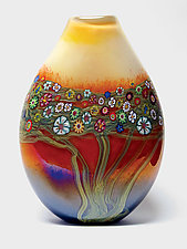 Mango Vines Pouch by Ken Hanson and Ingrid Hanson (Art Glass Vase)