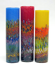 Garden Cylinder by Ken Hanson and Ingrid Hanson (Art Glass Vase)