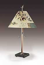Pomegranate Ribbon by Janna Ugone and Justin Thomas (Mixed-Media Table Lamp)