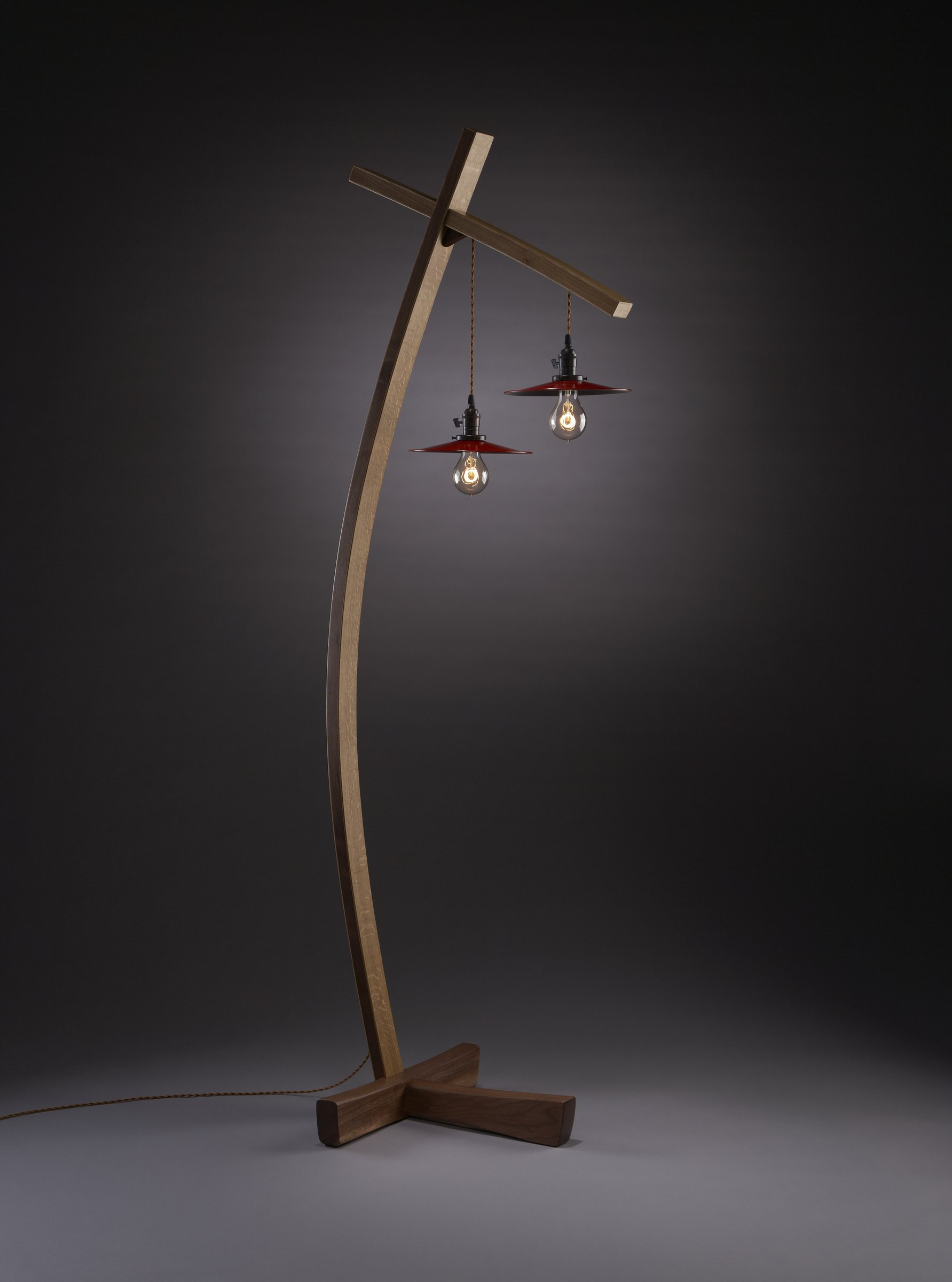 Twice Aglow By Brian Hubel Wood Floor Lamp
