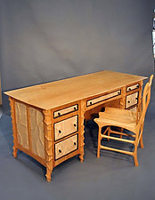 Executive Desk & Chair by John Wesley Williams (Wood Desk & Chair)