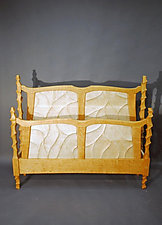 Sculpted Bed by John Wesley Williams (Wood Bed)