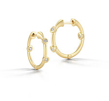 Cono Huggie Earring by Dana Melnick (Gold & Stone Earrings)